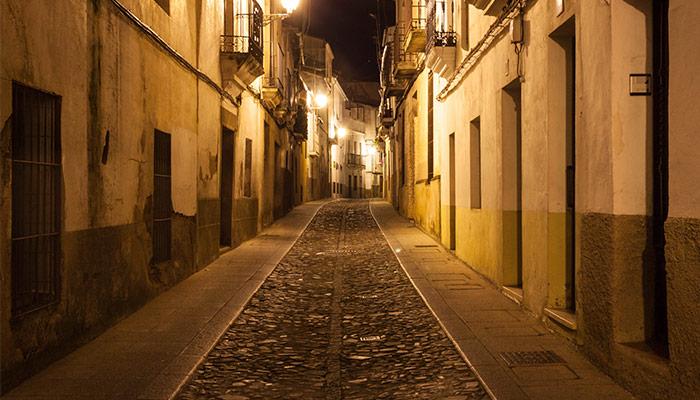 Paseo nocturno por Cáceres