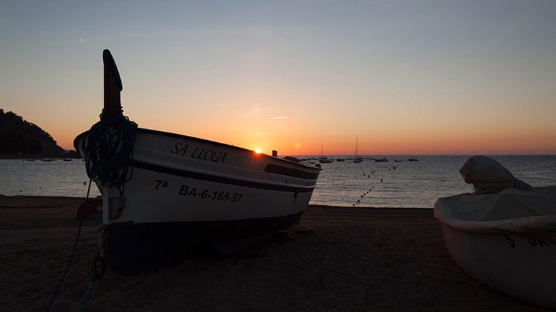 6.30 am amanece en Tossa de Mar