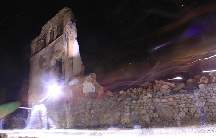 Visita nocturna a Belchite
