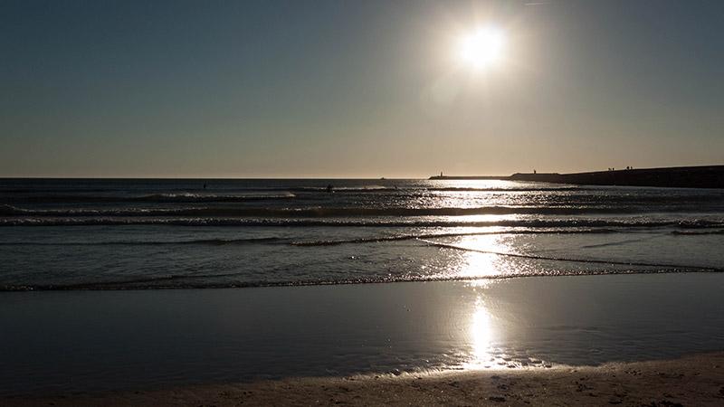 Atardecer en las playas de Figueira da Foz