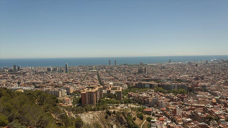 Vista de Barcelona desde los Bunkers del Carmel