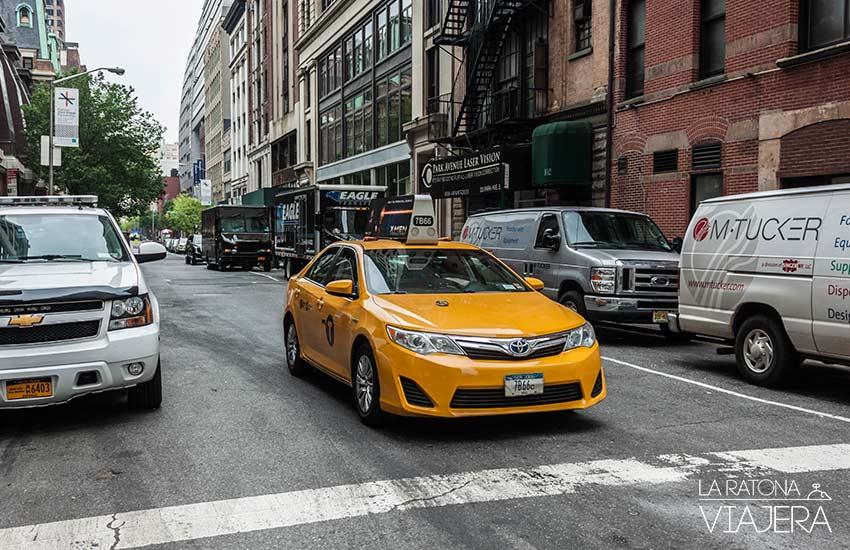 Amarillos así son los taxis de Nueva York